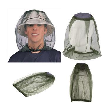 Bug Mesh siatka na głowę ochraniacz na twarz Travel Camping czapka kapelusze Outdoor czapka wędkarska Midge Mosquito Insect Hat kapelusz wędkarski tanie i dobre opinie mosquito hat Stałe Wiatroszczelna Rayon fishing cap fishing hat