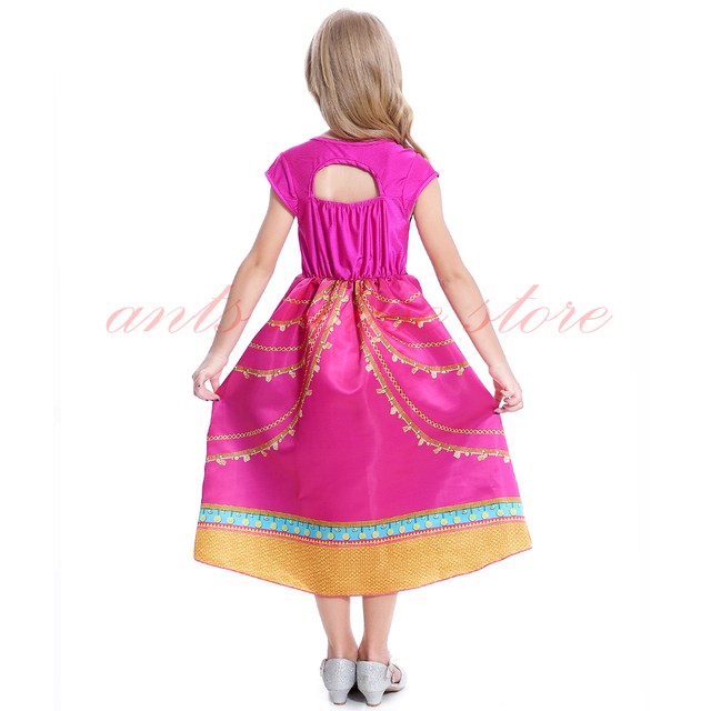 Aladdin Kostüm Jasmin Kleid Rosa Fuchsia Outfit Für Kinder