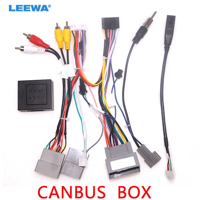 Leewa Car 16pin Audio Wiring Harness With Canbus Box For Honda Civic Crv Breeze Aftermarket