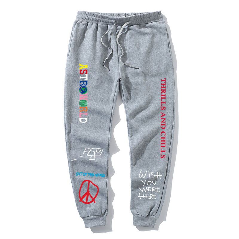2020 Quality Fleece trousers  ASTRO WORLD Letter Printed Women Men Jogging Pants Hip hop Streetwear MenSweatpantS  itself