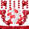 Украшения для воздушных шаров на День святого Валентина, висячая гирлянда с розовыми лепестками в форме сердца, XXL, День Святого Валентина, ...