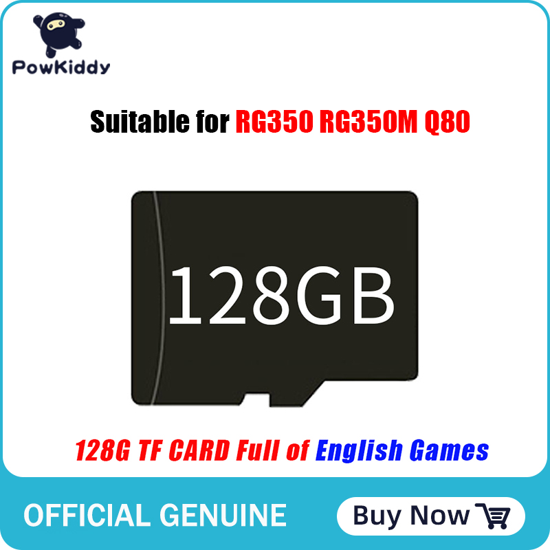 128GB game memory card for RG350 RG350M Q80, built-in 15000+ English games, more than 130 PS1 games 1