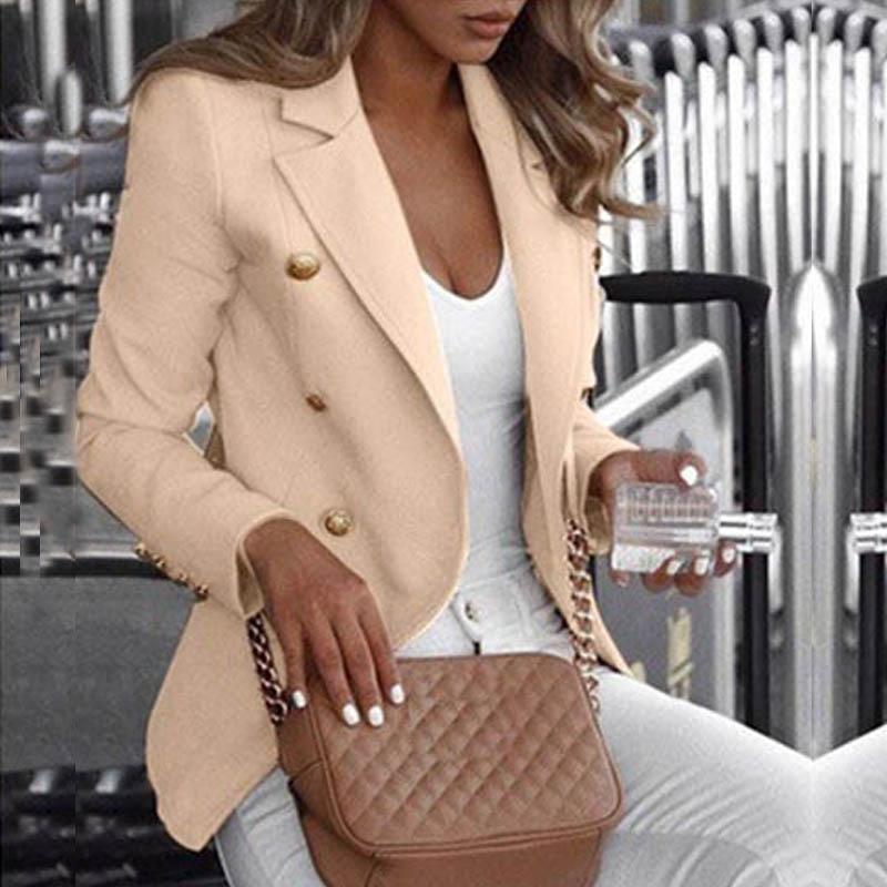 Button Ladies Blazer Woman 2019 Work Suit Women's Jacket Office Lady Formal Women Blazers And Jackets Female Blazer Femme 5XL