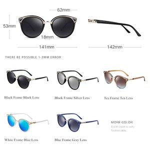 Image 3 - PARZIN Retro Sunglasses Women Golden Rim Fashion Elegant Ladies Round Sun Glasses Polarized Eyewear Luxury Designer GafaDe Sol