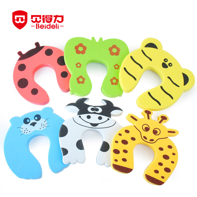 Cute Animal Baby Safety Door Stopper Clip Security Children Safety Cartoon Door Clamp Pinch Hand Security Stopper 8pcs/Set