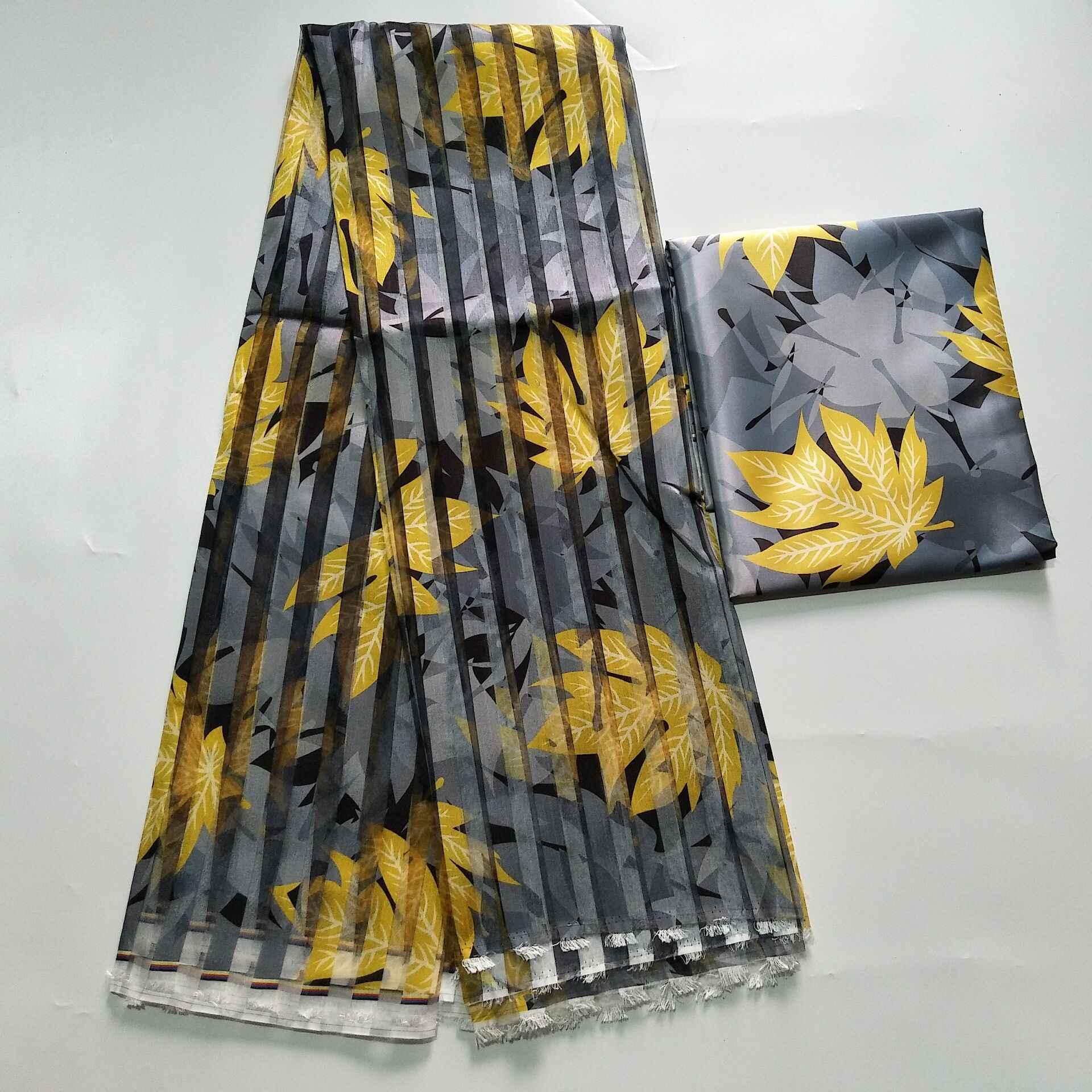 뜨거운 판매가 나 스타일 새틴 실크 직물 organza 리본 아프리카 왁 스 디자인 (dhl에 대 한 3pcs)! J52602