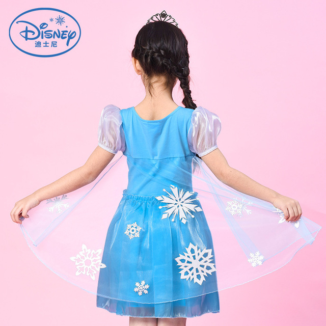 Genuine Disney Frozen 2 Elsa Dress for Girls Princess Anna Elsa Elza Costumes Little Girls Christmas Party Dresses Kids Clothes