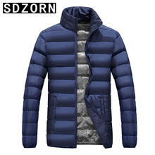 Mens Winter Jacket Plain Padded Parka Simple Warm Coat for Men 2019 New Fall Outwear