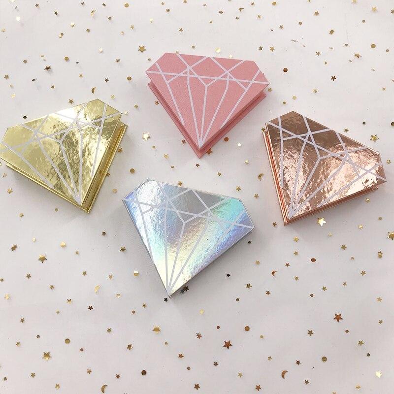 Mink Eyelash 3D Empty Holographic Diamond Lash Box Without Lashes