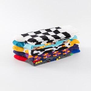 Image 5 - New 2019 Colorful Cotton Mens Long Socks Harajuku Hip Hop Funny Poached egg  Magic Cube Cool Dress Socks for Male Wedding Gifts