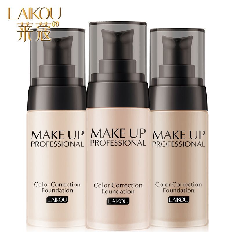 LAIKOU Full Coverage Face Base Liquid Foundation Cream Waterproof Long-lasting Concealer Makeup Natural Oil-control Matte Finish image