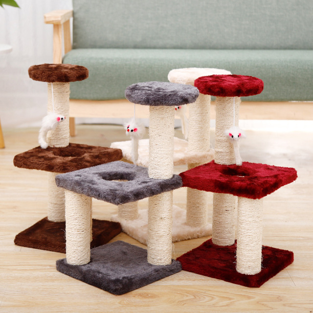 Small Cat Tree House Cat Cat Scratchers Climbing Frame Climbing Frame With Hammock Table Pet Cat Toy Kitty Play House For Kitten 5