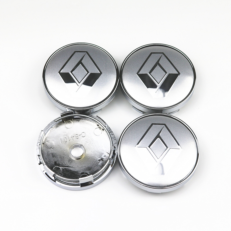 4pcs/lot 60mm <font><b>Car</b></font> Rim <font><b>Cover</b></font> Decal <font><b>Wheel</b></font> Center <font><b>Hub</b></font> Cap Hubcap for Renault Clio Megane Laguna Scenic TwinGo <font><b>Wheel</b></font> Emblem Badge image