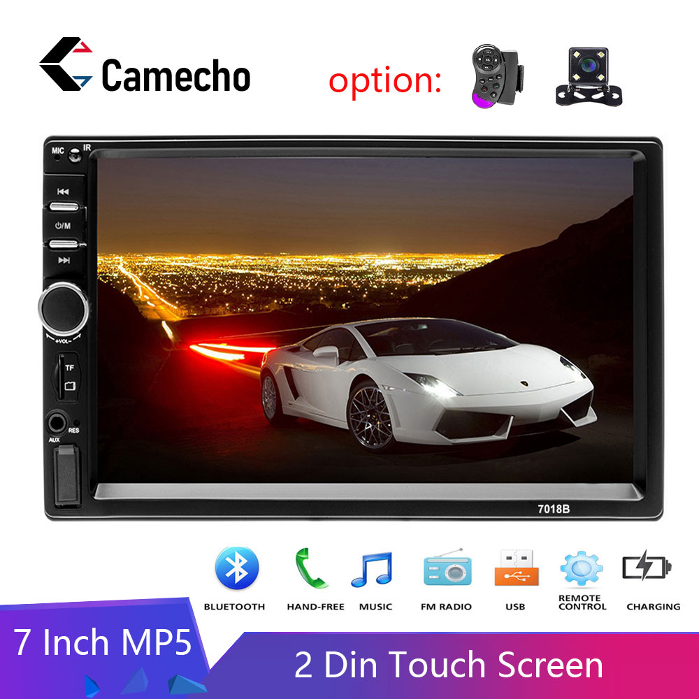 "Bluetooth Car Stereo Radio 2 DIN 7/"" HD MP5 FM Player Touch Screen Rear Camera US"