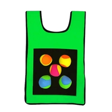 Игровой реквизит жилет открытый родитель-ребенок интерактивный жилет липкий мяч для игры на открытом воздухе метание липкий целевой коллективный игровой жилет палка