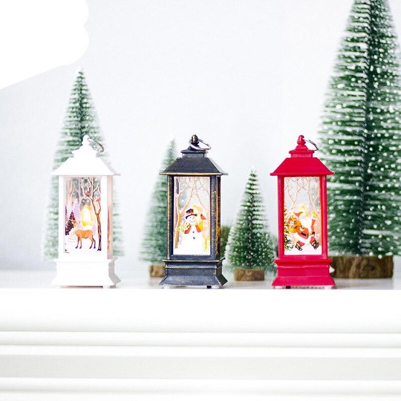 2018 Christmas Candlelight Novelty Lightings Candle Holder Decorative Lamp Home Decor Christmas Gift Hanging Xmas Hot Sale Decor