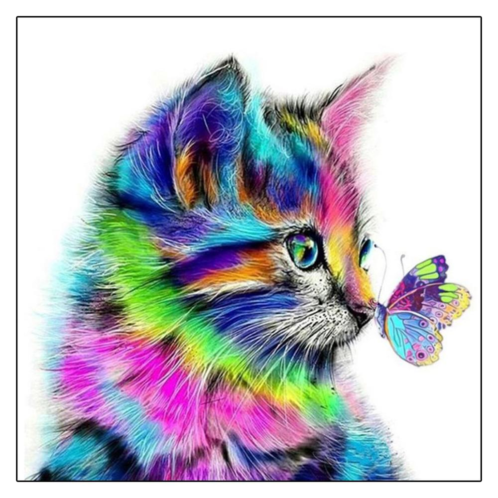 2020 Full Drill 5D Diamond Painting Small Cat DIY Cross Stitch Home Decor Gift