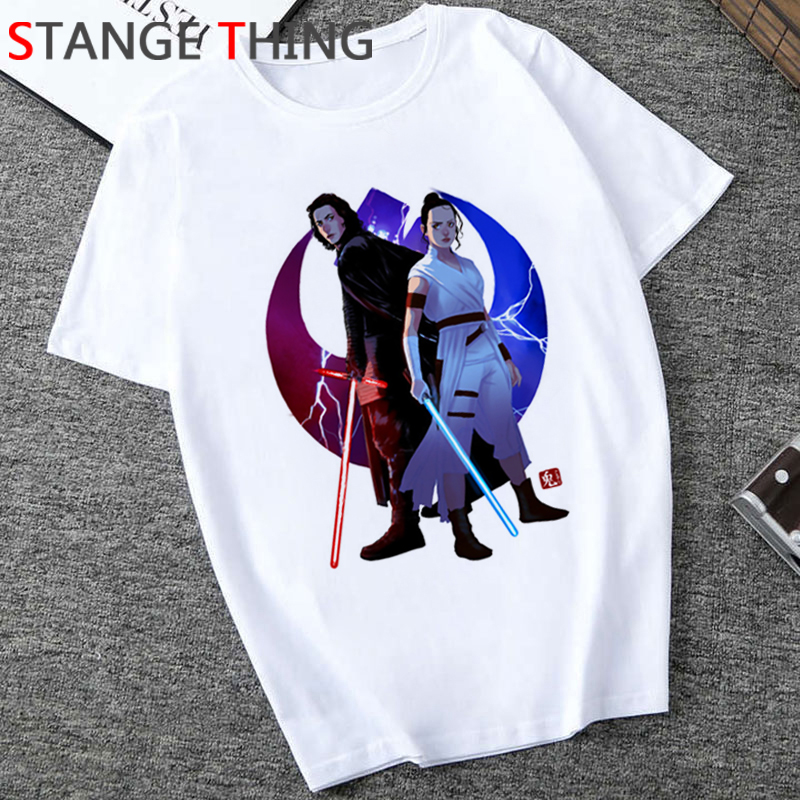 Star Wars Funny Cartoon T Shirt Men Unisex The Rise Of Skywalker Cool T-shirt Fashion Graphic Casual Tshirt Hip Hop Top Tee Male