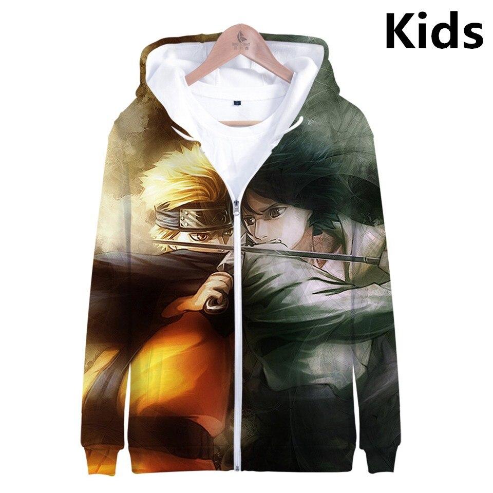 2 To 13 Years Kids Hoodies Naruto 3d Printed Hoodie Sweatshirt Boys Girls Uchiha Uzumaki Sasuke Naruto Jacket Coat Teen Clothes