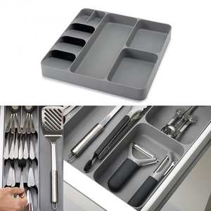 8 Compartments Tray Storage-Box Drawer-Organizer Kitchen Cutlery Spoon 1pcs Separation-Finish
