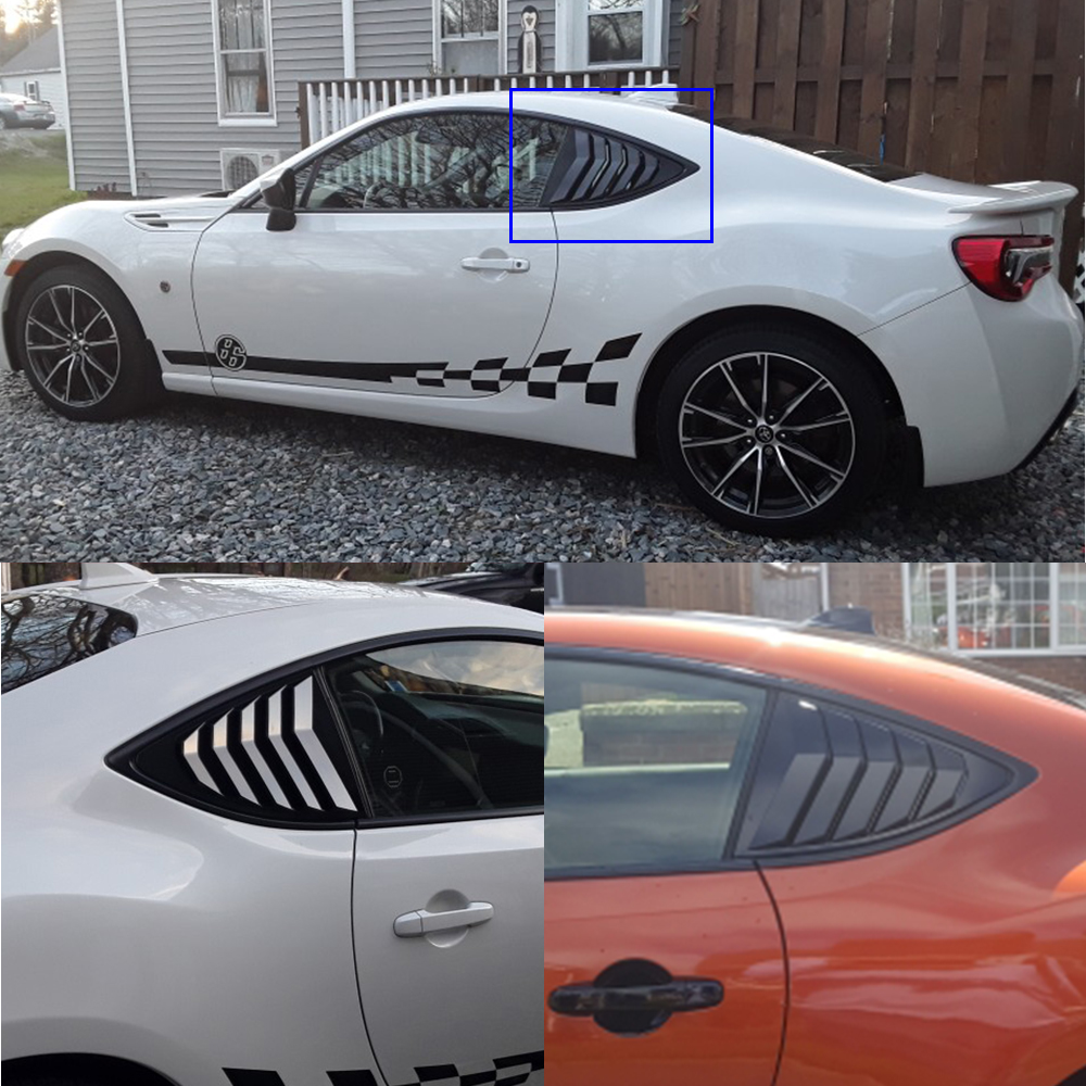 2 개/대 Rear Quarter Window Louvers 스포일러 패널 Scion FRS for Subaru BRZ for Toyota 86 GT86 2013-2018 ABS 스티커