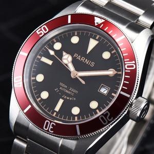 Image 3 - パーニス 41 ミリメートル腕時計メンズ御代田自動機械式ムーブメントステンレス鋼発光高級ブランドサファイアクリスタル腕時計男性