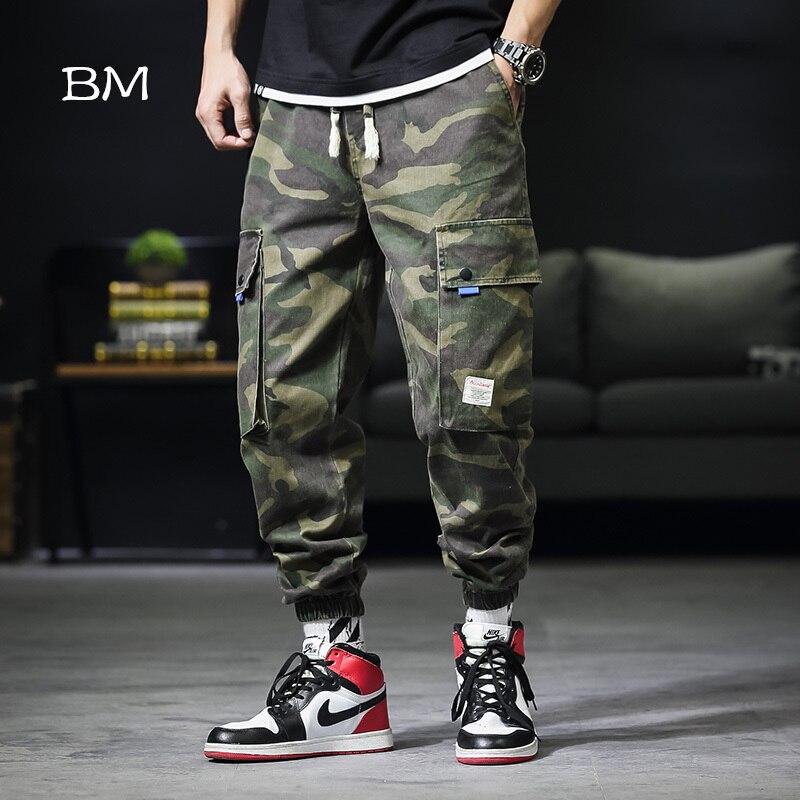2019 hip hop joggers men camouflage tactical pants streetwear army cargo pants military trousers men casual camo harem pants
