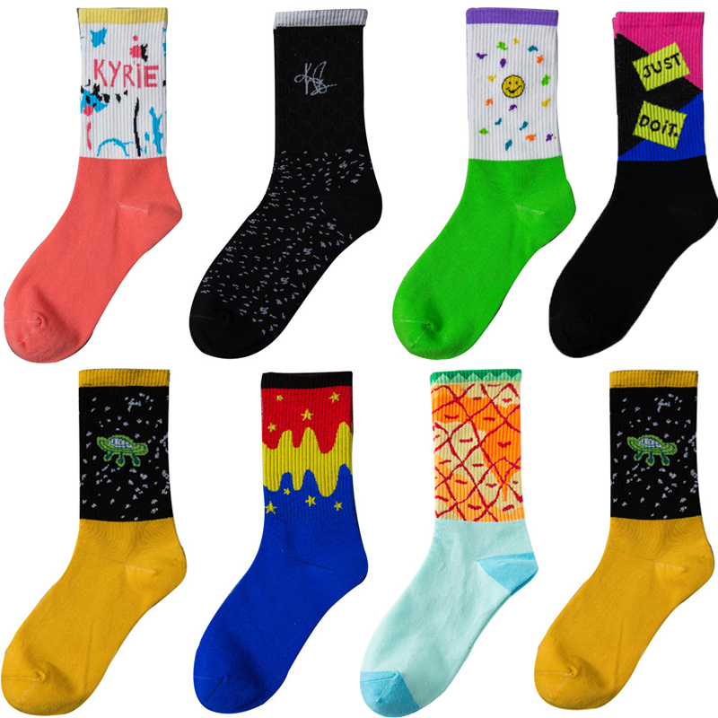 2020 Happy Funny Sock Slippers Men's Socks Spring And Summer Cartoon Couple Funny New Combed Cotton HOT Sale