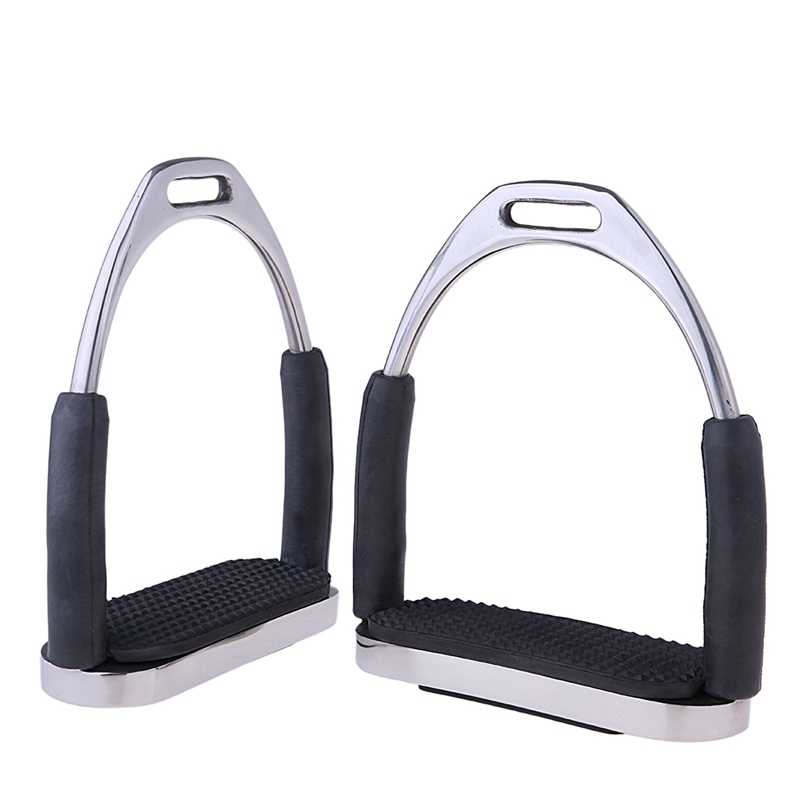 Super Sell-1Pair Horse Saddle English Stirrups Horse Riding Accessories Riding Double Jointed Fillis Stirrup