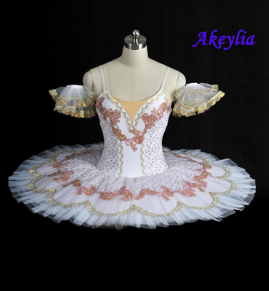 White Coppelia  Professional Ballet Tutu Costume Adult Competition Performance Pancake Classical Stage