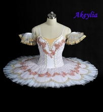 White Coppelia  Professional Ballet Tutu Costume Adult Competition Performance Pancake Tutu Classical Ballet Stage Costume adult professional ballet tutu costume white coppelia competition performance pancake tutu classical ballet stage costume