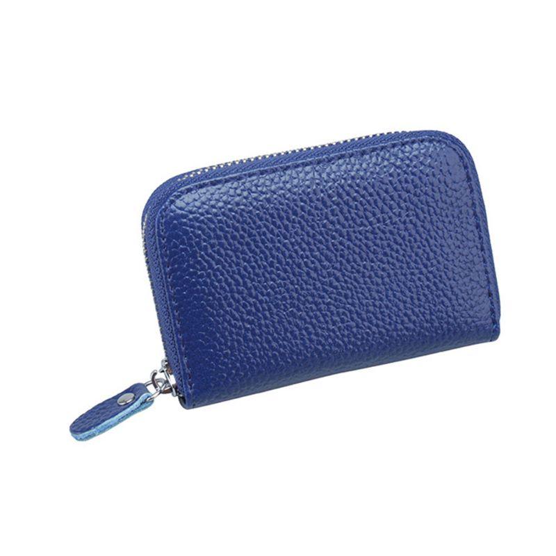 RFID Blocking Leather Passport Holder ID Case Credit Card Wallet Men Women/'s
