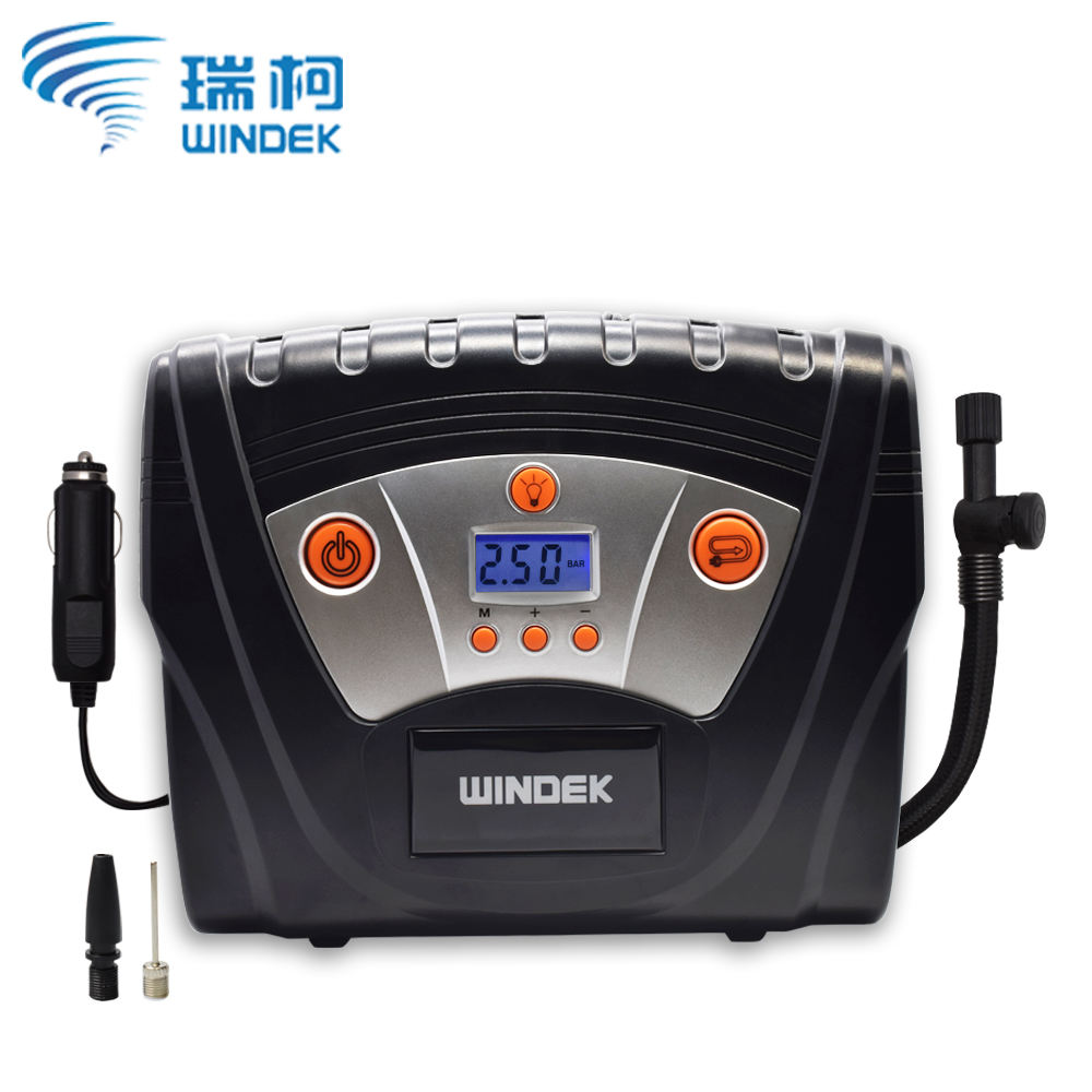 WINDEK Car Air Compressor Digital Tire Inflatable Pump Electric Inflator 12V Preset Tyre Pressure Auto Stop Car Pumps for Cars in Inflatable Pump from Automobiles Motorcycles