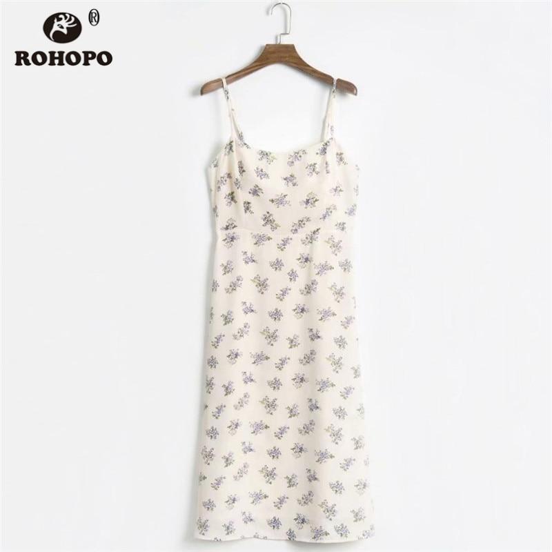 ROHOPO Double Layers Purple Lavender Spaghetti Strap Dress Elegant Romantic Ladies Autumn Mini Vestido #H209