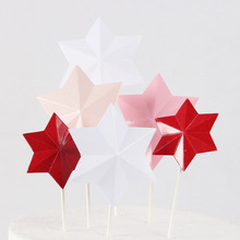 6pcs/lot Lovely Star Cupcake Toppers Cake Party Supplies For Christmas Birthday Wedding Decoration Topper