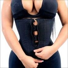 Faja moldeadora de cintura de látex para mujer, faja moldeadora de cuerpo, cremallera de acero, faja de modelado, faja colombiana