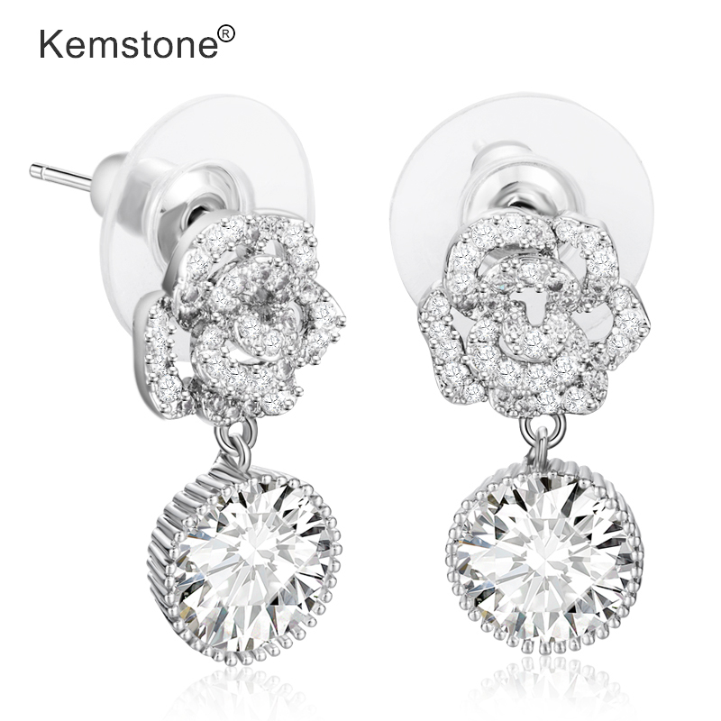 Joma Jewellery Silver /& Clear Crystal Drop Earrings with Diamante