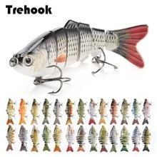 TREHOOK טביעת Wobblers דיג פתיונות 10cm 17.5g 6 רב מפרקים Swimbait קשיח מלאכותי פיתיון פייק/בס דיג פיתוי Crankbait