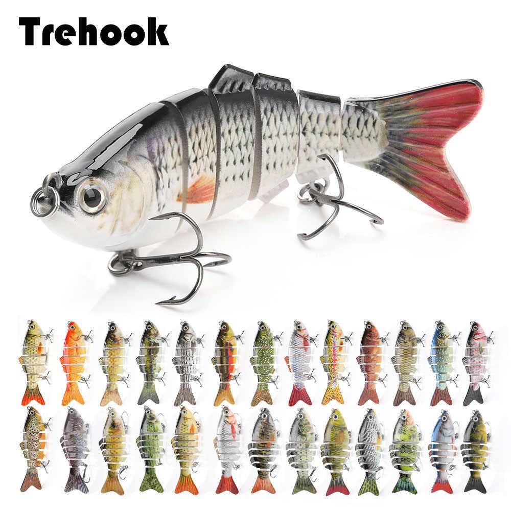 Trehook Tenggelam Wobblers Memancing Umpan 10 Cm 17.5G 6 Multi Bersendi Swimbait Hard Buatan Umpan Pike/Bass Memancing lure Crankbait