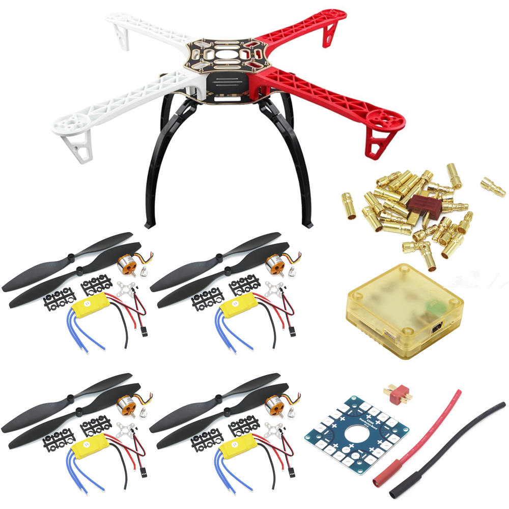 F450 PCB Frame Kit with CC3D EVO Flight Controller Board & XXD A2212 <font><b>1000KV</b></font> <font><b>Motor</b></font> &30A ESC &1045 Props For Rc Quadcopter image