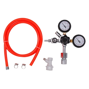 Household Brewed Carbon Dioxide Pipeline Assembly, PVC Gas Hose, Carbon Dioxide Regulator, with Conversion Adapter for Carbon Di