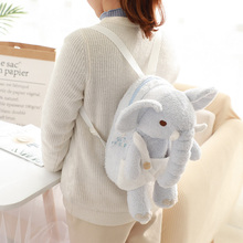 1pc 25/35cm Lovely elephant plush toy cartoon animal modelling backpack  soft filling good holiday gifts for the children