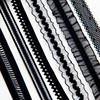 12/15/16/20mm Black Lace Elastic Band Edge Waistband Rubber Hair Elastic Bands Nylon Webbing DIY Pants Bra Accessories Sewing 2m