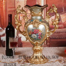 European retro home ornaments decoration living room ceramics resin vase flower arrangement luxury
