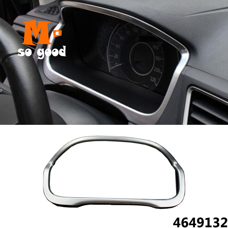 Auto Interior Moulding Accessories ABS Chrome for Honda CRV CR-V 2012 13 14 15 2016 Car Dashboard Frame Sticker Cover Trim 1pcs