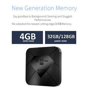 Image 3 - X10 MAX 8K TV BOX Amlogic S905X3 4G RAM 128GB ROM Android 9,0 5G Dual WIFI USB 3,0 BT 4,0 Led anzeige HDR H.265 8K Set Top Box