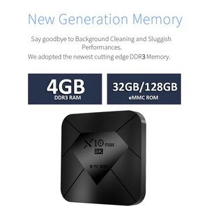 Image 3 - X10 MAX 8K TV BOX Amlogic S905X3 4G di RAM 128GB di ROM Android 9.0 5G Dual WIFI USB 3.0 BT4.0 Display A LED HDR H.265 8K Set Top Box