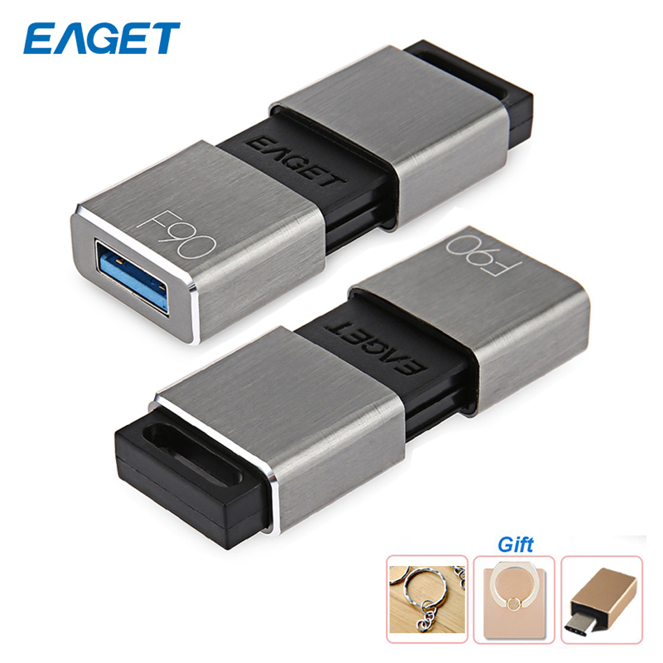 Eaget F90 USB 3.0 U Disk Memory Storage Device 16GB 32GB 64GB 128GB 256GB USB 3.0 High Speed Metal Pendrive for PC Laptop phone