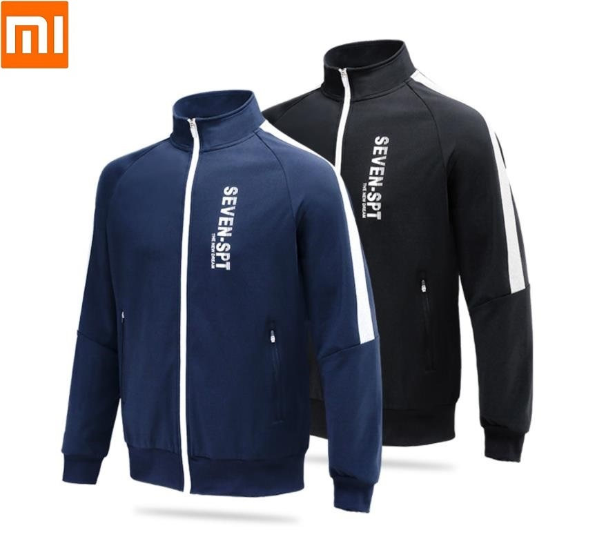 Xiaomi  Fashion Men's High Quality Cardigan Zip Sweatshirt Silky Sports Jacket Outdoor Fitness Running Coat