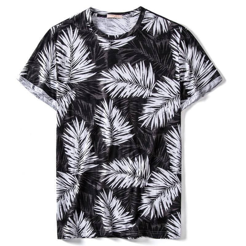 Summer 2020 New 100% Cotton Short Sleeve Print T-shirt Men High Quality Hawaii Beach Style Mens Tshirts Streetwear T Shirt Men